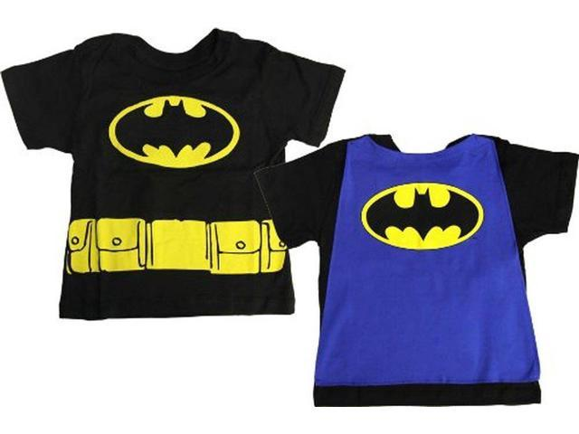 DC Comics Batman Logo Black Cape Toddler Tee 5T