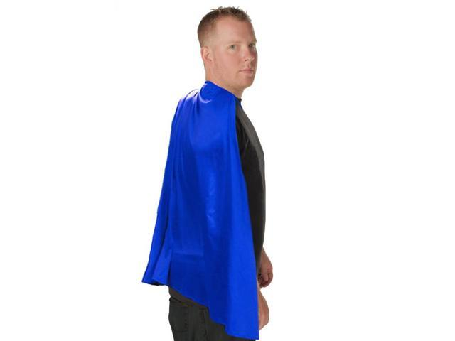 Deluxe Super Hero Costume Cape Blue One Size Fits Most