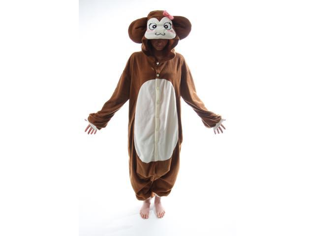 BCozy Kigu Unisex Animal Costume Pajama Onsie Adult: Monkey One Size Fits Most