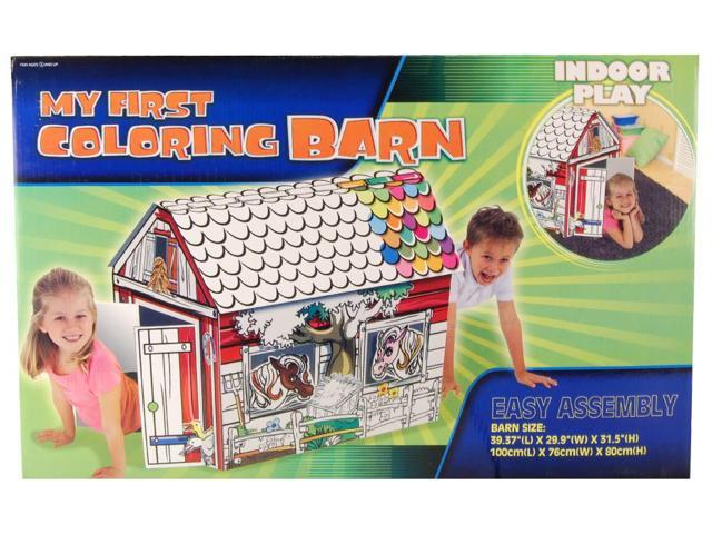My Coloring Paper Barn Playset
