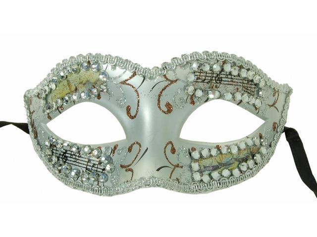 Petite Eye Costume Mask Silver One Size