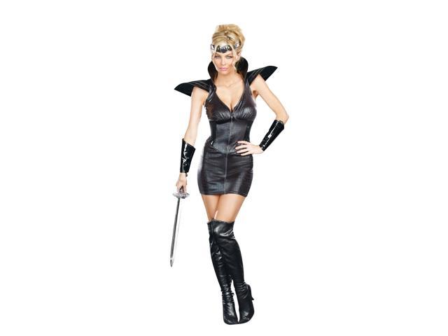 Sexy Medieval Warrior Of Darkness Costume Dress Adult Small