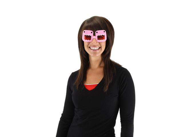 Domo Costume Glasses Pink Adult One Size