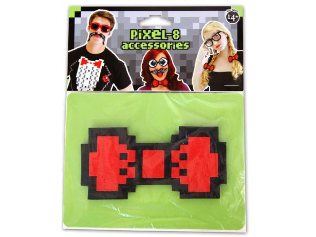 Pixel-8 Costume Bow Tie Adult: Red One Size