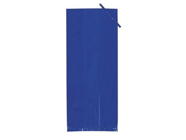 Treat Bags Pack Of 20 Small Cello Bags With Twist Ties Blue