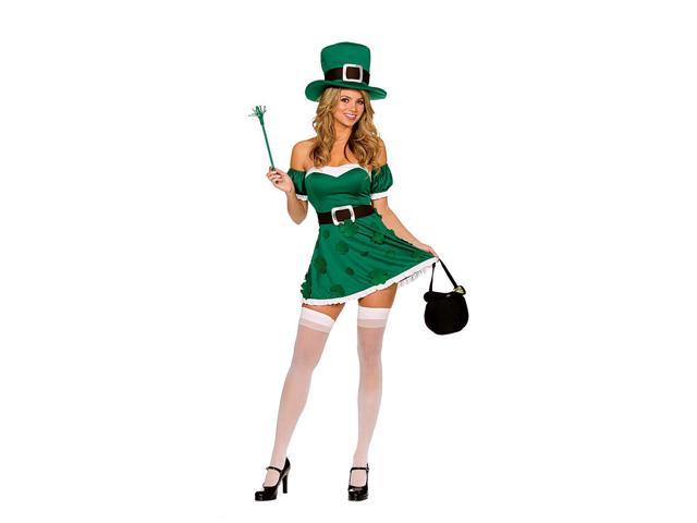St Patty's Day Sexy Spank Me I'm Irish Leprechaun Costume Adult Large