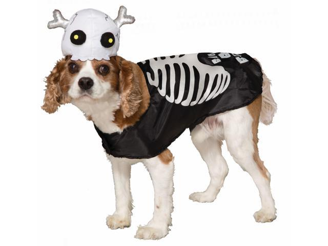 Skeleton Pet Costume Small