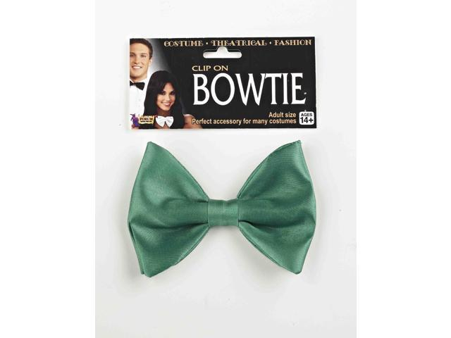 Green Clip On Bowtie Costume Accessory One Size