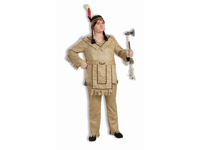 Native American Brave Costume Adult Plus Plus Size