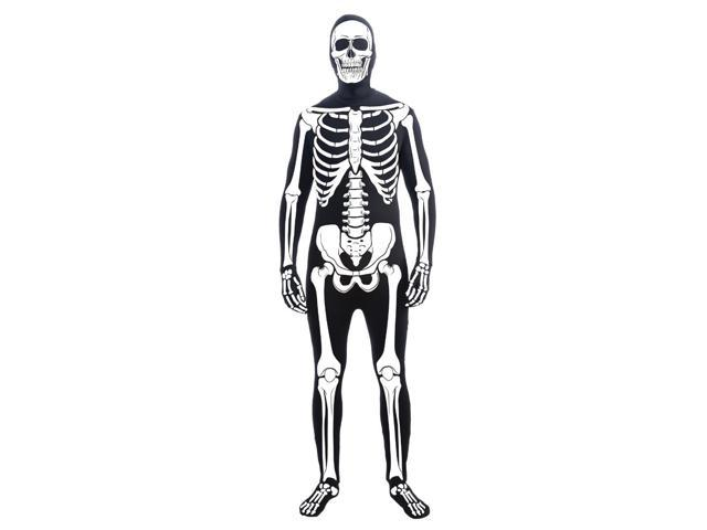 Invisible Man Skeleton Bones Adult Costume Skin Suit One Size Fits Most