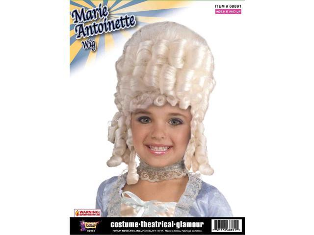 Blonde Marie Antoinette Child Costume Wig One Size