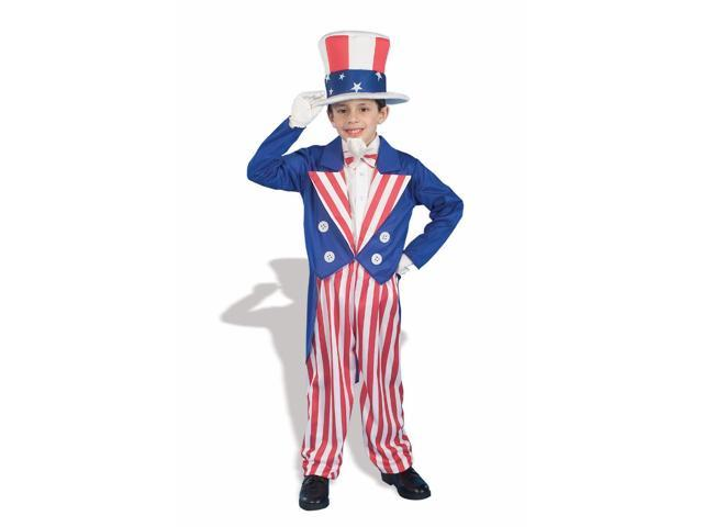 Americana Uncle Sam Patriotic Costume Child Medium
