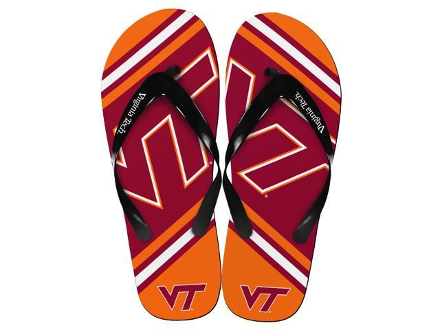 Virginia Tech Hokies Unisex Big Logo Flip Flops X-Small (W 5-6)