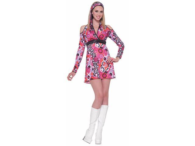 60's 70's Red Hot Mod Costume Dress Adult Standard