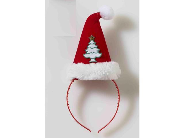 Christmas Tree Santa Hat Costume Headband One Size