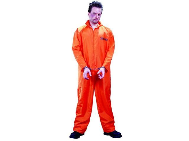 Got Busted Penitentiary Jumpsuit & Handcuffs Costume Adult Standard