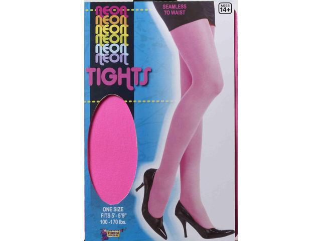 Pink Neon Tights Adult Costume Accessory One Size