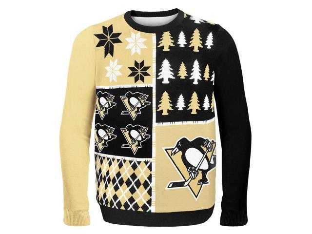 Pittsburgh Penguins NHL Busy Block Ugly Sweater Large