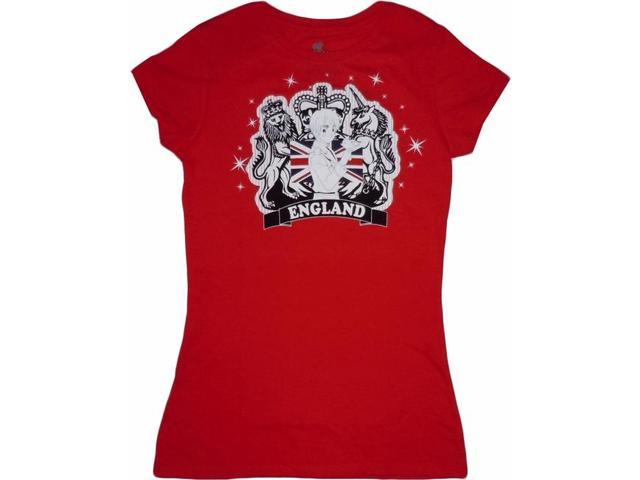 Hetalia England Girly Red Junior Fit T-Shirt Small