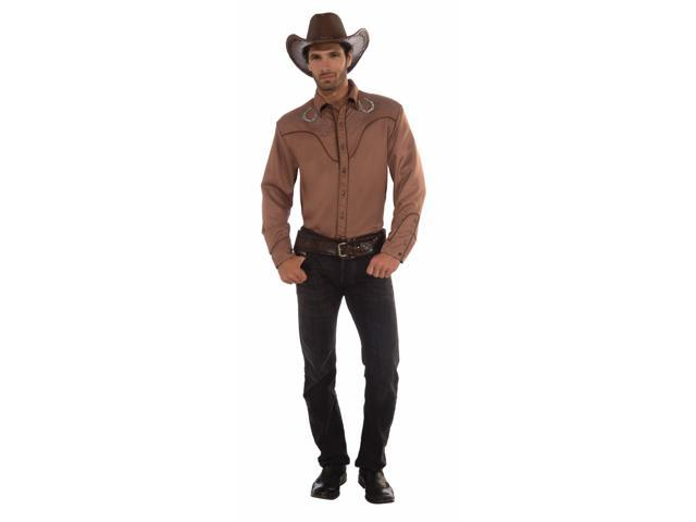 Deluxe Western Cowboy Costume Shirt Adult One Size Fits Most