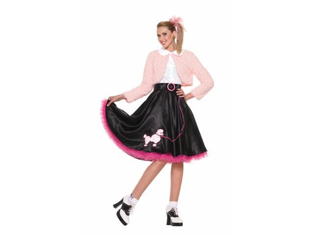 50's Sweetheart Deluxe Poodle Skirt Costume Set Adult Standard