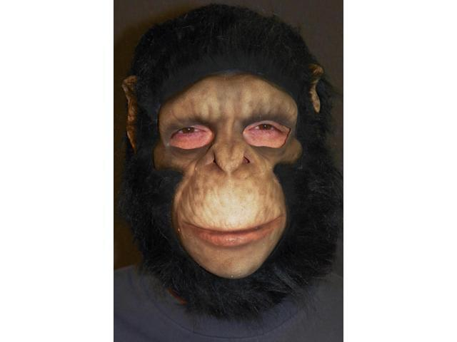 Chimpanzee Full Head Costume Mask Adult One Size