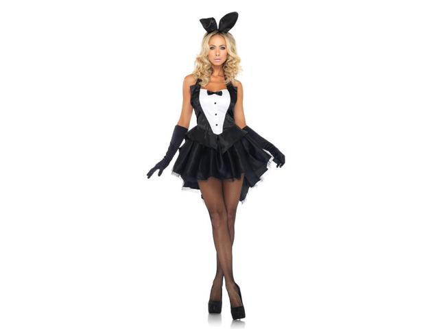 Sexy Tux & Tails Bunny Costume Dress Adult X-Small 0-2