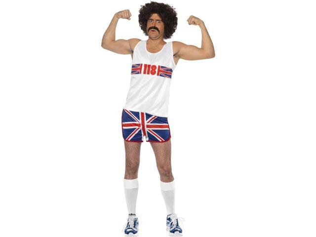 Marathon Man British Flag Tank & Shorts Costume Adult Medium