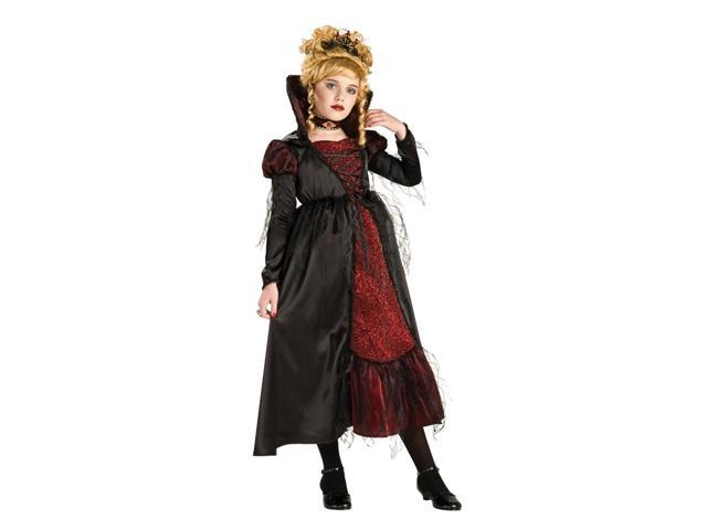 Vampiress Dracula Girl Premium Dress Costume Child Small
