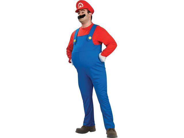 Super Mario Brothers Deluxe Mario Costume Adult Plus Plus Size