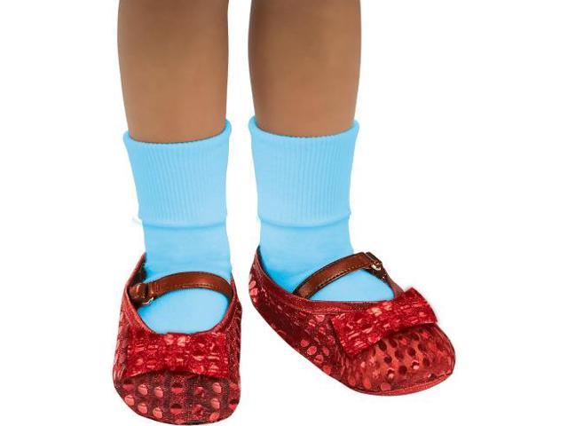 The Wizard Of Oz Dorothy Costume Sequin Shoe Covers Child One Size