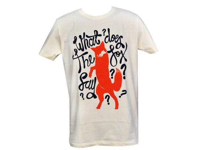 What Does The Fox Say T-Shirt Adult: Ivory Small