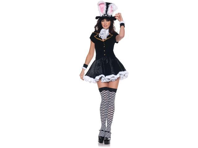 Alice In Wonderland Mad Hatter Girl Mini Dress Costume Adult X-Large