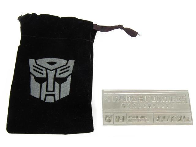 Transformers Mp-01B Black Convoy Collector Plaque by Takara