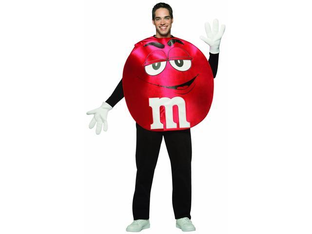 M&M Candy Red Poncho Costume Standard