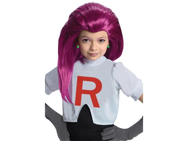 Pokemon Jessie Purple Costume Wig Child One Size