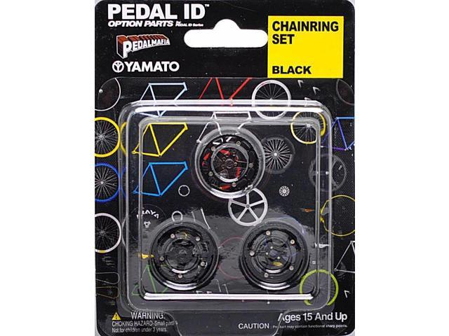 Pedal Id 1:9 Scale Bicycle: Chain Ring Set: Black