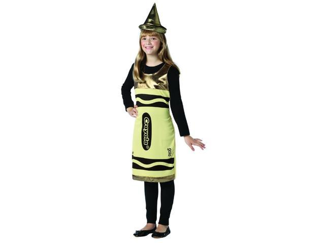 Crayola Gold Tank Costume Dress Tween Tween 10-12