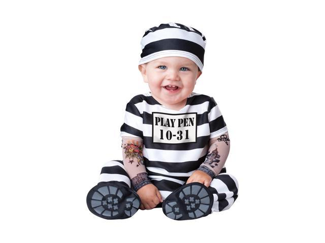 Time Out Prisoner Deluxe Infant Toddler Costume Small 6-12 Months