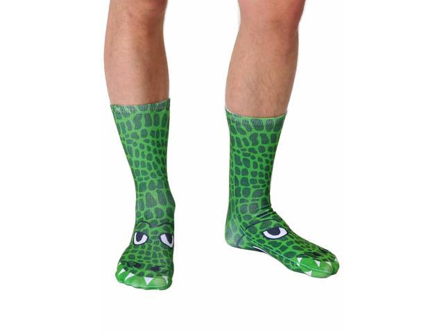 Crocodile Photo Print Crew Socks