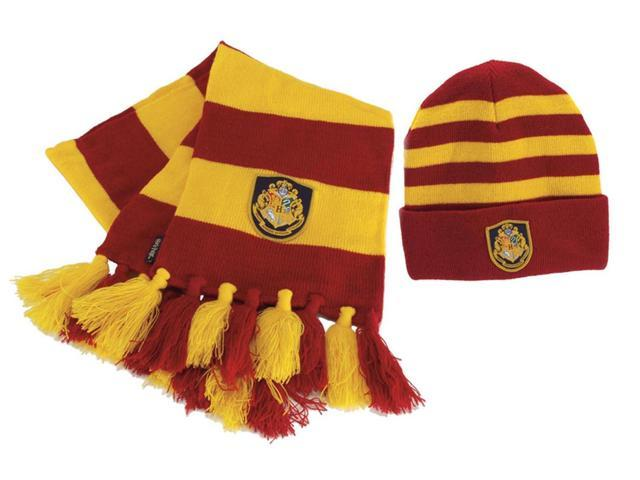 Harry Potter Hogwarts Knit Scarf & Hat Set Costume Accessory One Size