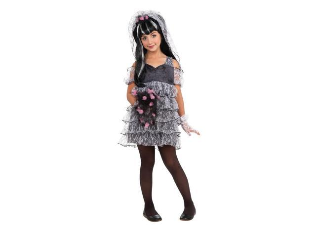 Drama Queen Monster Bride Costume Child Large 12-14