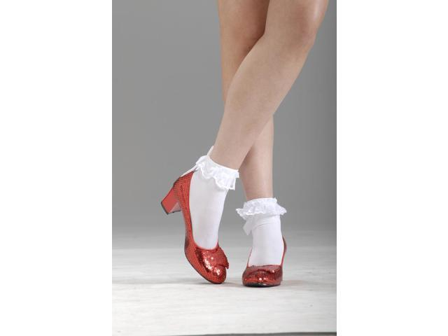Wizard Of Oz Dorothy Shoes- Red Glitter Costume Small