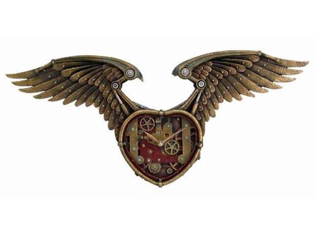 Steampunk Winged Heart Wall Clock