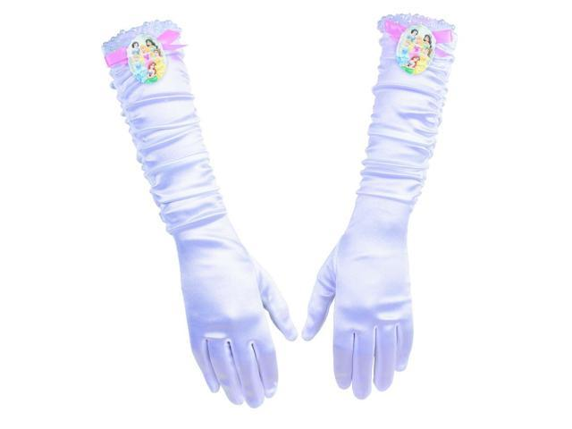 Disney Princess White Full Length Gloves Child One Size Fits Most