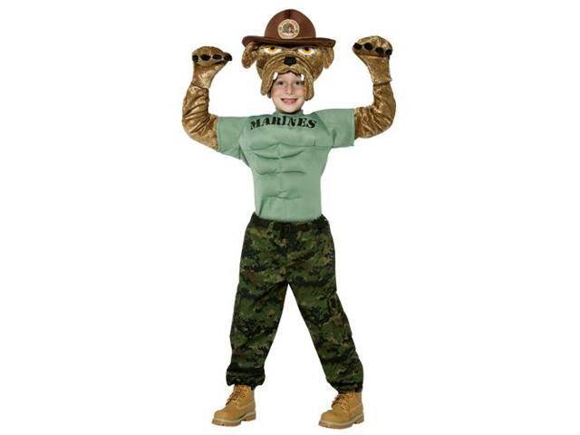 Chesty The Marine Bulldog Child Costume 4-6X