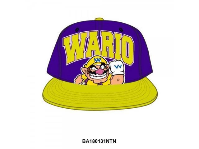 Baseball Cap - Nintendo - New Wario Purple Snapback Cap Hat ba180131ntn