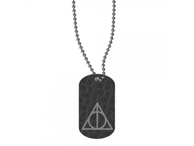 Necklace - Harry Potter - Deathly Hallows Dog Tag New Anime Licensed dt2ewxhpt