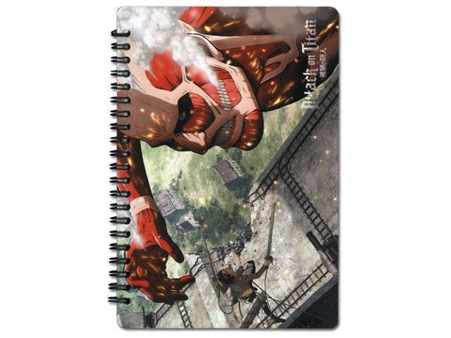Notebook - Attack on Titan - New Eren Vs. Colossal Anime Licensed ge43167