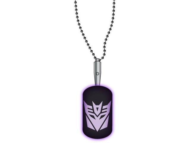 Necklace - Transformers - Decepticon LED Dog Tag Licensed dt1y1jtra